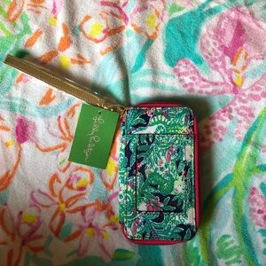 NWT Lilly Pulitzer Wristlet Navy Trunk Show